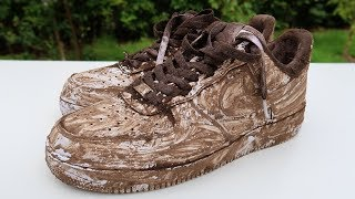 Cleaning & Customising The Dirtiest Air Force 1's Ever! TRASH TO NEW!