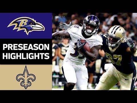 Ravens vs. Saints | NFL Preseason Week 4 Game Highlights