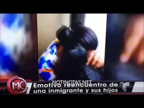 Emotivo reencuentro de una dominicana y...