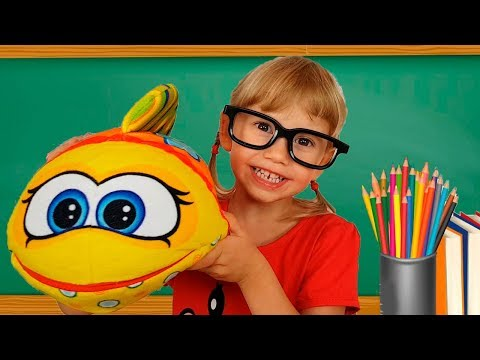 Alena and Pasha play school Funny children stories for kids  toddlers by Chiko TV