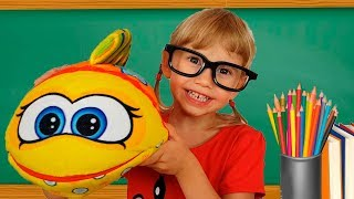 Alena And Pasha Play School Funny Children Stories For Kids  Toddlers By Chiko T