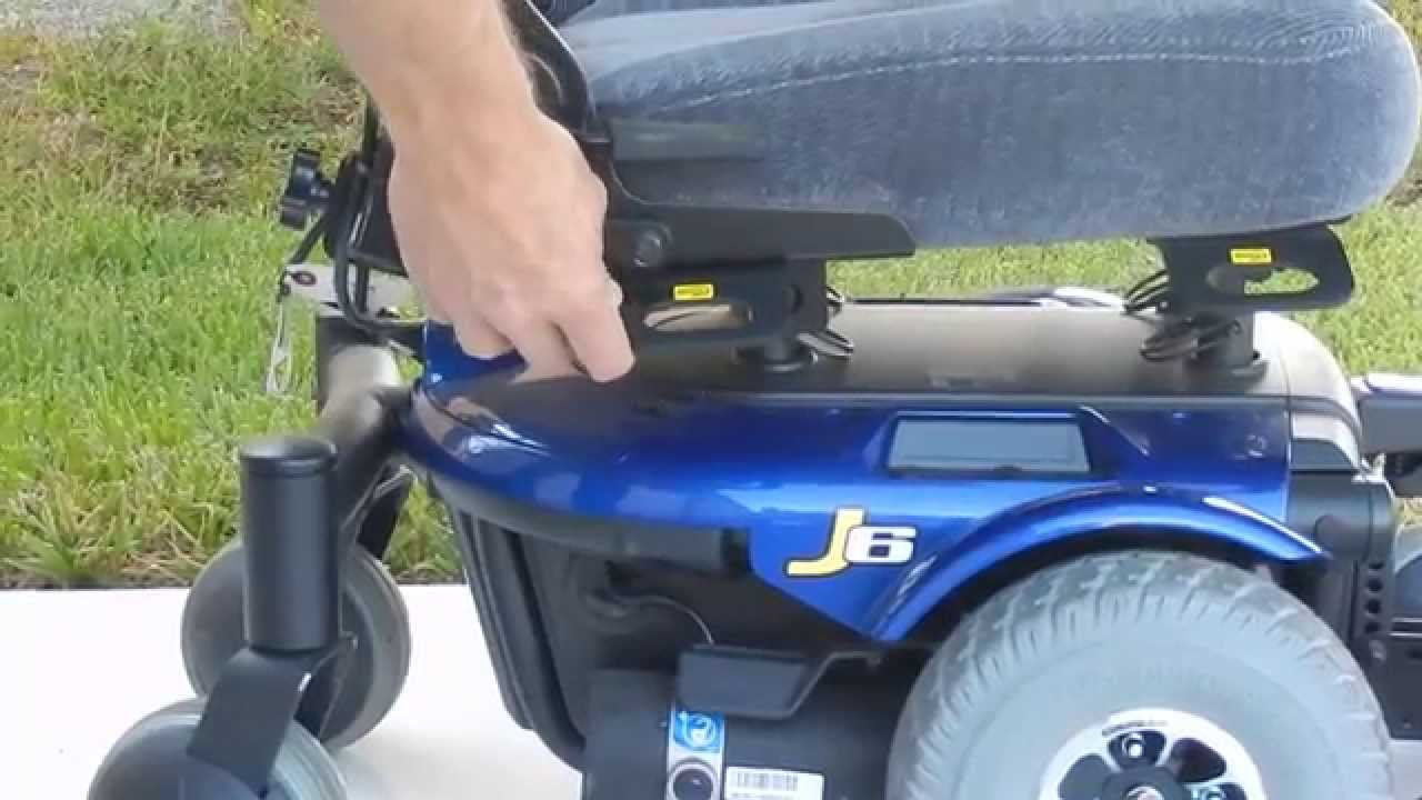 jazzy power chair used electric videos pride mobility j6 blue with cloth seat by marc's - youtube