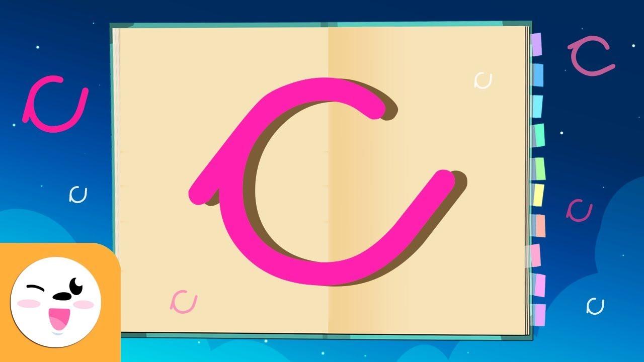 Letra C con caligrafía enlazada - El abecedario para niños - YouTube