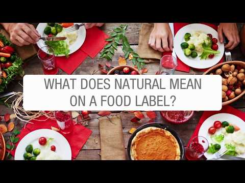 What does natural mean on a food label?