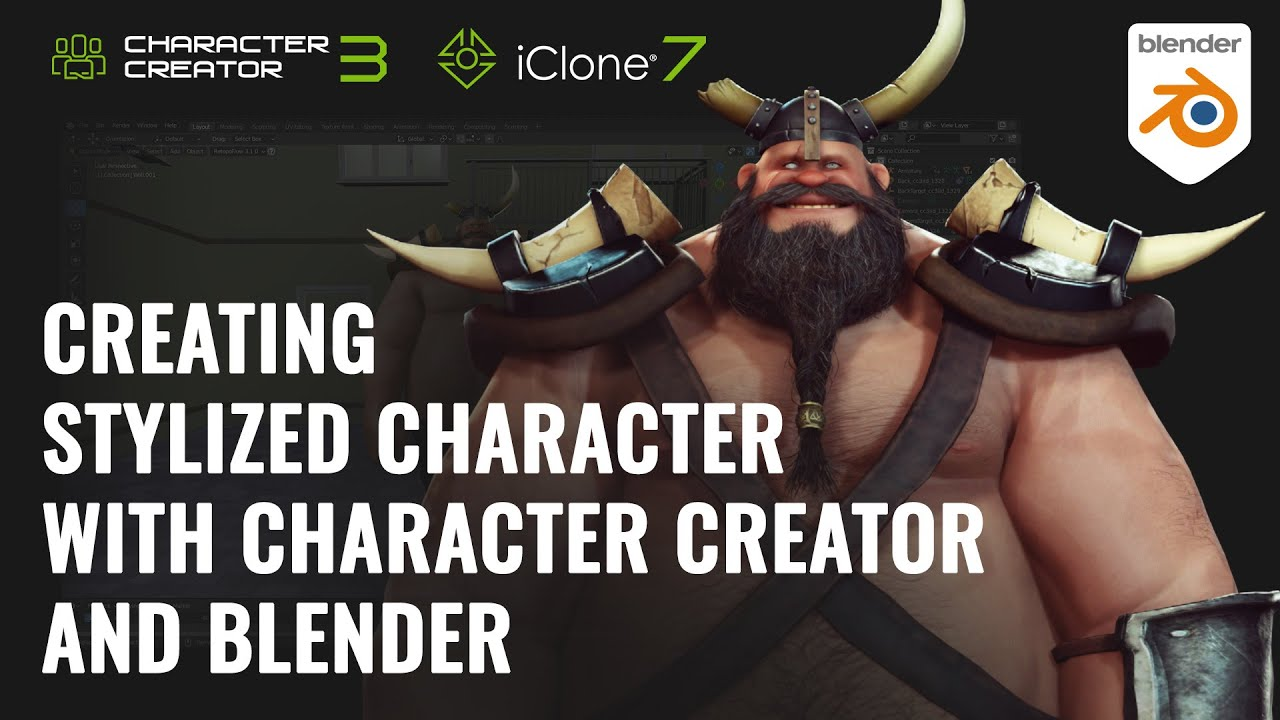 blender animation - creating stylized character with character and blender