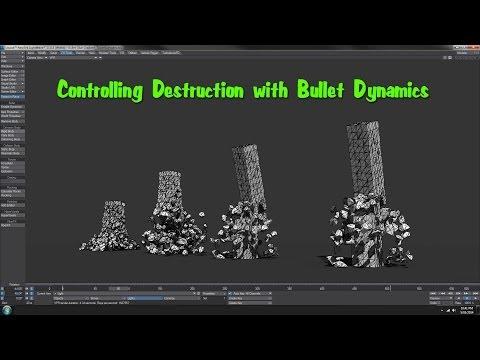 Lightwave 11.6 Controlling Destruction - Bullet Dynamics