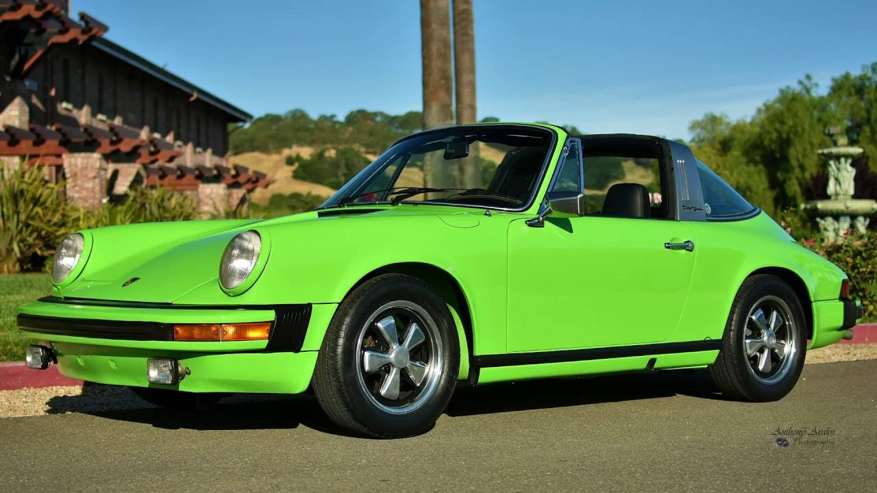 1974 Porsche 911 Targa Lime Green Youtube