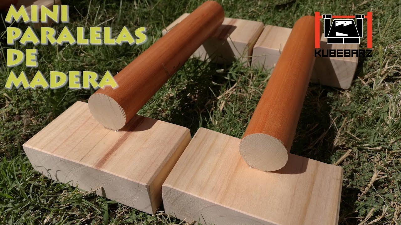 Como hacer unas mini paralelas de madera facil for Minibar de madera