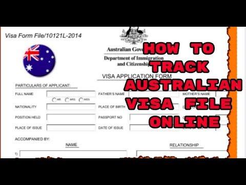 HOW TO TRACK AUSTRALIA VISA FILE