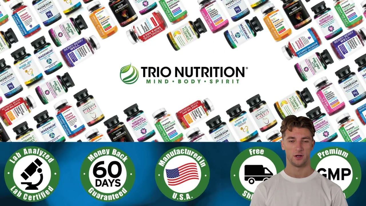 Trio Nutrition Biotin Gummies | Hair Growth Vitamins Supplements