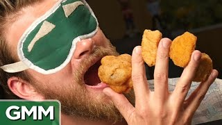 Blind Chicken Sandwich Taste Test good mythical morning