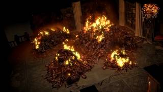 Path of Exile: Burning Corpse Pile Hideout Decoration