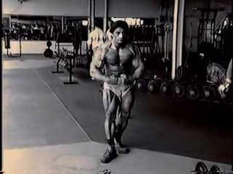 IFBB Pro Bodybuilder Danny Padilla posing in gym