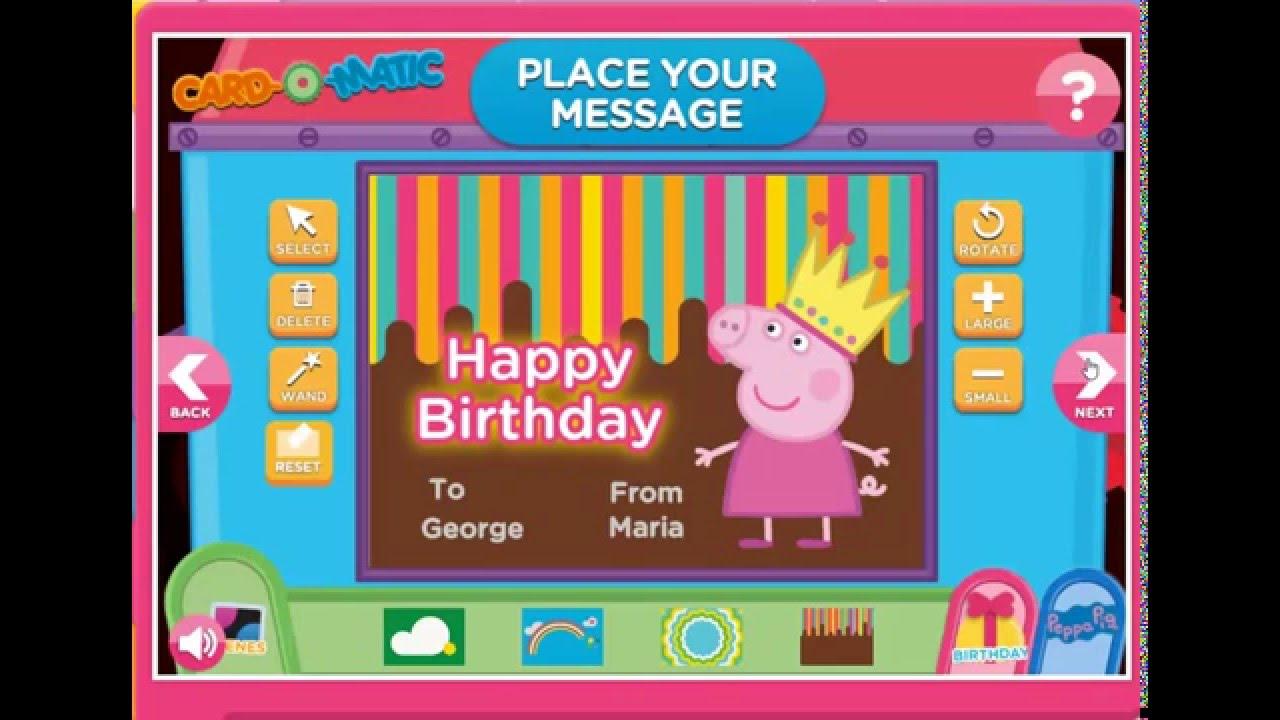 Peppa Pig Birthday Card Kids Time