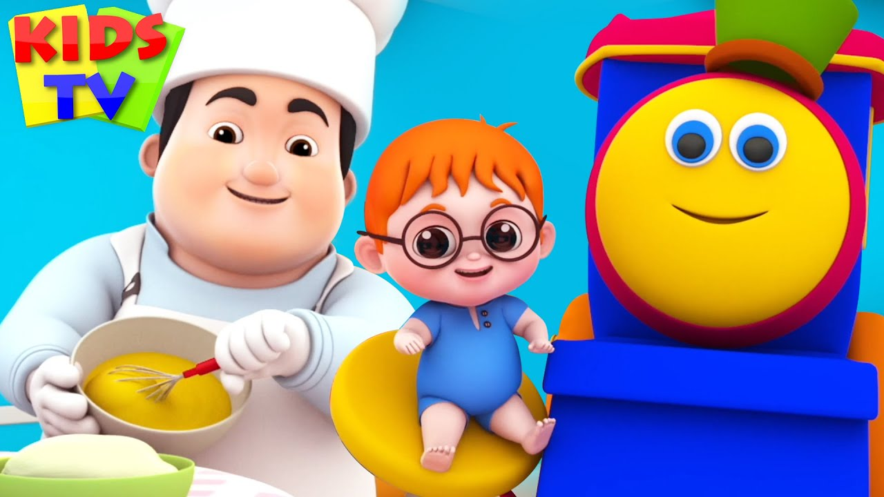 Download Pat A Cake | Nursery Rhymes & Kids Songs | Bob The Train | Kids Cartoon Videos