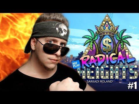 INGYEN Pubg alternatíva ami nem Fortnite 🎮|Radical Heights játék #1 KOCKULÁS| #REFPLAY