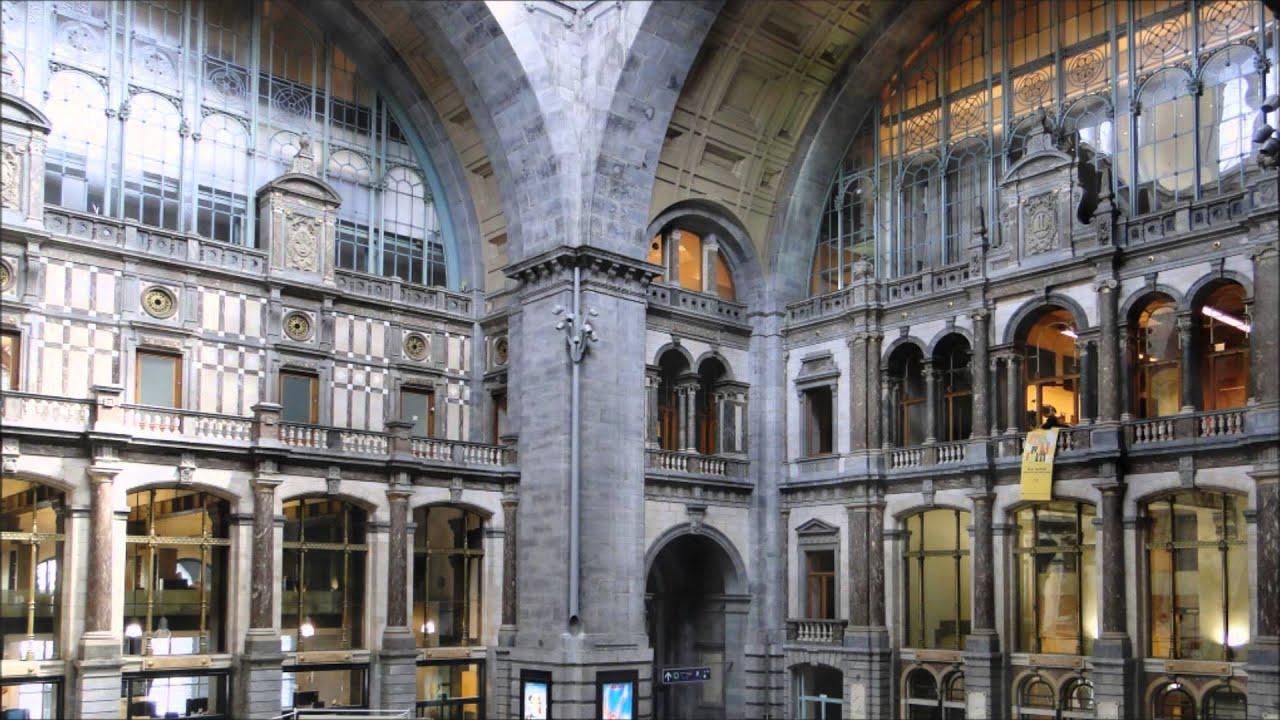 Belgium The Antwerpen Centraal Railway Station In Antwerp Youtube
