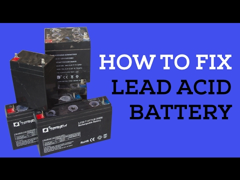 How to Fix Lead Acid Battery (easy way)