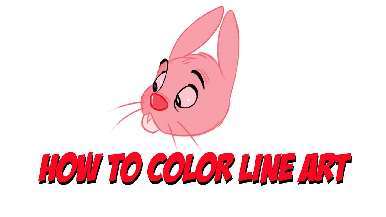 Color lineart in photoshop - Sketchbook Pro Tutorial How To Color Line Art
