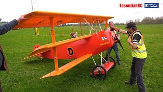 Steve Carr's GIANT 65% scale Fokker DR.I DREIDECKER/TRIPLANE is bac...