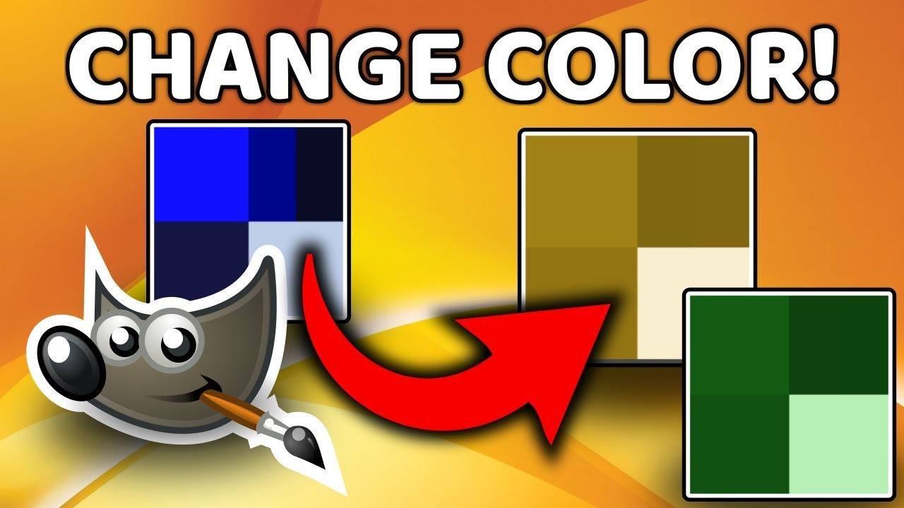 How to change color in GIMP