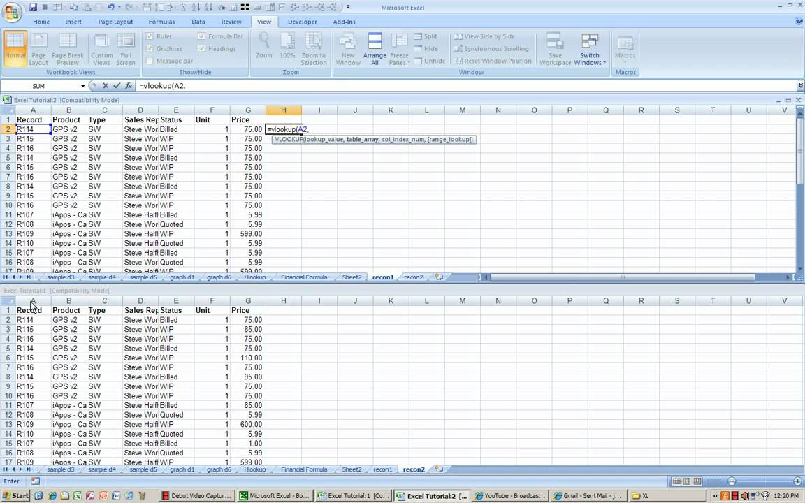 Excel Reconciliation Process using vlookup YouTube – Bank Account Reconciliation Template