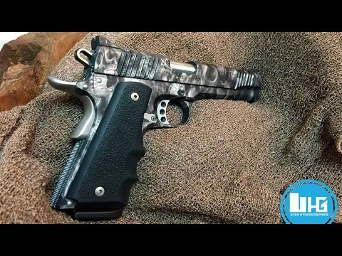 HydroDipping a 1911 Pistol Part 1 - The Frame -Utah Hydrographics