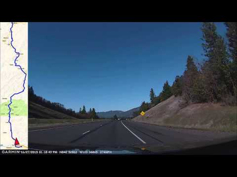 Grants Pass to Roseburg via I-5 w/Map Overlay Full Drive