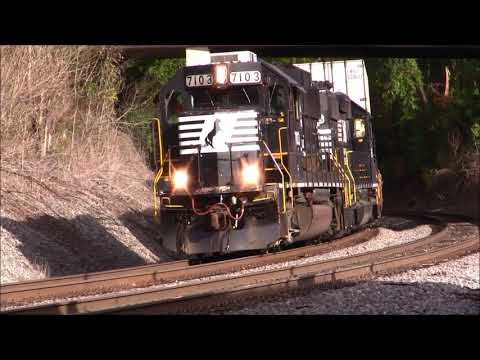 NORFOLK SOUTHERN TRAINS SHOT IN MABLETON,GA.11-20-2017