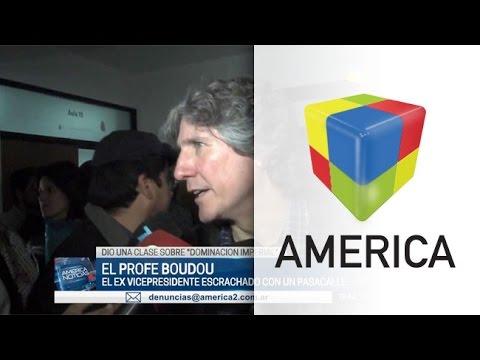 El pasacalle de bienvenida para Boudou en la Universidad de La Plata