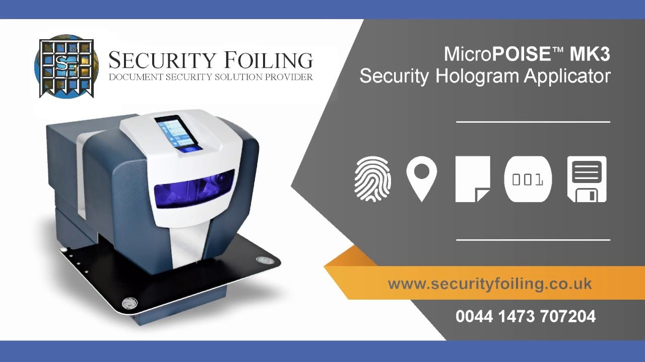 Security Foilings - MicroPOISE ™ MK3 - Secure Hologram System | SFL