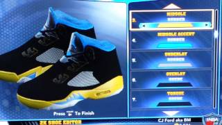 Shanghai Nights Jordan 5 for NBA 2K14