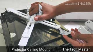 Projector wall mount installation in hindi Egate p531 Egate p513 wall mount installation demo
