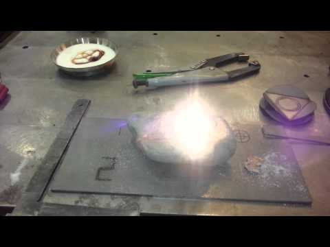 Using 2 kW laser on rock