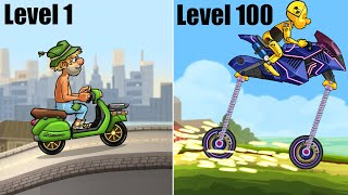 Hill Climb Racing 2 - SKILL from LvL 1 to LvL 100 (WHICH IS YOURS?)