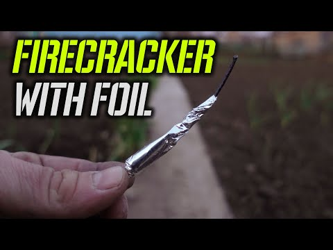 HOW TO MAKE A MICRO FIRECRACKER WITH FOIL