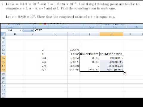 Numerical Analysis 1q - Question # 2