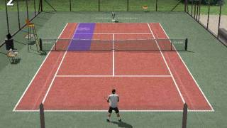 tennis game simulator - Full Ace school -