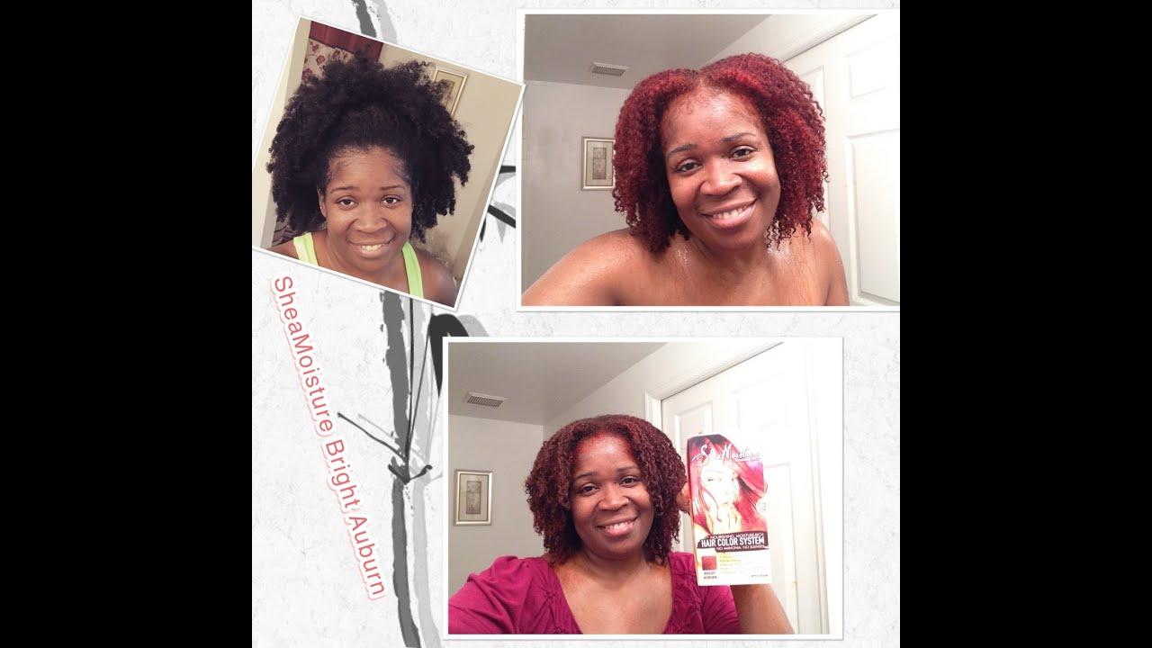 I Dye My Hair Using Sheamoisture Bright Auburn Its Summer Time