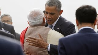 Hug Protocol Broken: Indian PM embraces Obama against rules