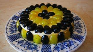 Простой и быстрый рецепт ПРОЩЕ ПРОСТОГО салат с курицей и виноградом на праздничный стол