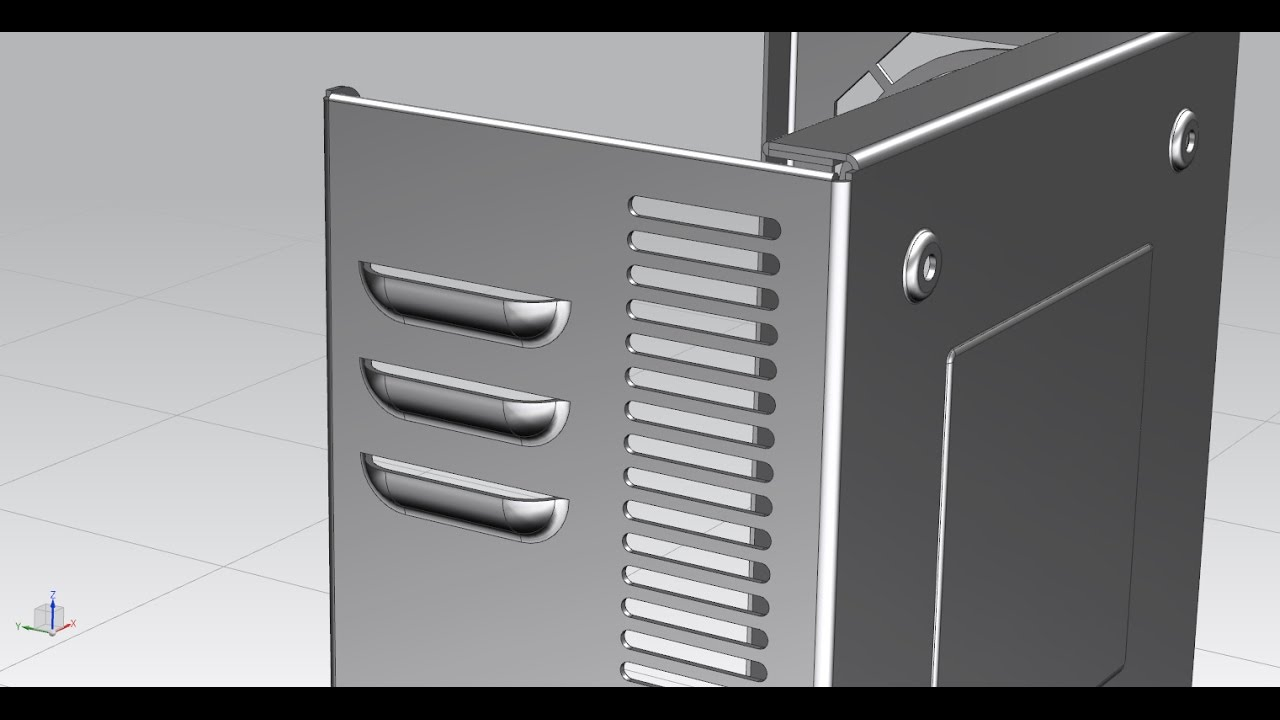How To Use Louver Feature In Nx11 0 Sheet Metal Youtube