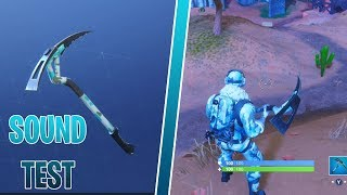 NEW CHILL-AXE PICKAXE SOUND TEST GAMEPLAY | DEEP FREEZE BUNDLE | FORTNITE BATTLE ROYALE