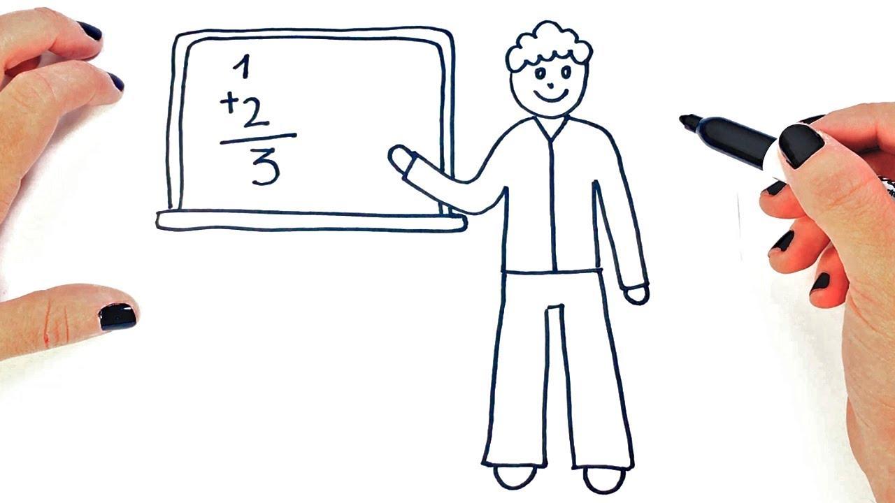 Como Dibujar Un Profesor O Maestro