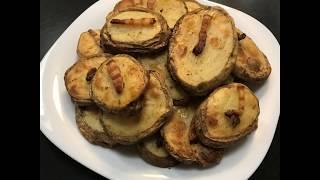 Запеченный картофель в духовке с салом
