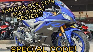 #41 - YAMAHA R25 2019 REVIEW! | MALAYSIA | SPECIAL CODE!