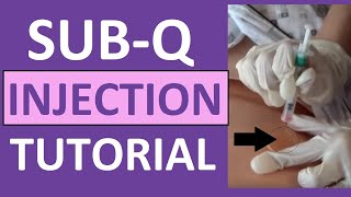 How to Give a Subq Subcutaneous Injection Shot