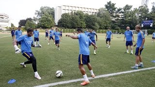 FC Barcelona training session: Barça trains in DC