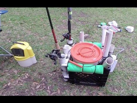 Kayak Fishing: DIY Kayak Fishing Milk Crate Live Bait Tank #7