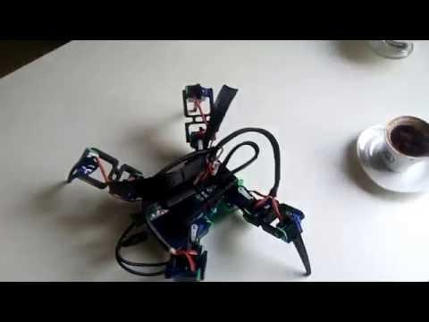 Arduino Örümcek Robot Bluetooth Kontrollü